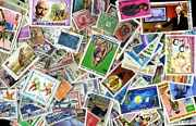 Community French 17000 Stamps Different Obliterated