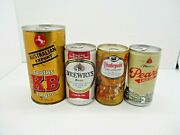 Vintage Empty Beer Can Lot Tooths Kb Lager Drewrys Hudepohl Pearl Lager
