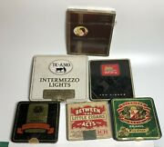 Mini Cigar Whiffs Tins And Containers American Mexican Brasil Lot Of 6 Vintage