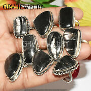 1000pcs Hypersthene Gemstone Rings Wholesale Lot 925 Silver Overlay Whr-31