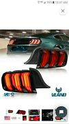 New Vland Red Full Led Taillights W/ Sequential Turn Sig. For 15-20 Mustang