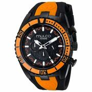 Mulco Menand039s Mw5-1836-615 Titans Wave 46mm Black Dial Silicone Watch