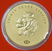 Rare Pamp For Hsbc Bank 24k Gold 1oz 30 Year Service Round In Sealed Cachet