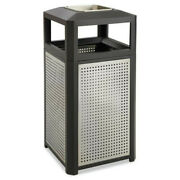 Safco 9935bl Evos Series 38 Gal Ashtray-top Waste Container - Blk New