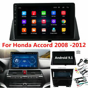 10.1 Android 9.1 Radio Stereo Player Gps Wifi 2gb+32gb For Honda Accord 2008-12