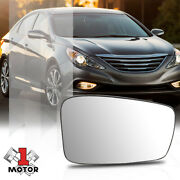 [left] Lh Driver Side Mirror Glass Lens Oe Style With Heated For 11-14 Sonata