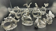 Reed And Barton Silver Plate 1824 Collection Of Napkin Rings Set Of 11