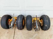 Pair Helicopter Hydraulic Ground Handling Wheels Dolly Oem Factory Set Aircraft