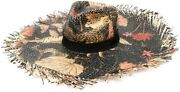 Etro Cappello Floral Printed Straw Sun Hat 260149 Size 58