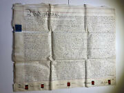 Gb Vellum Indenture Document 1809 3pgs With 5 Red Wax Seals-baron Edwin Sandys