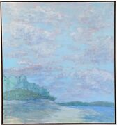 Robert Lahotan 20th C. American Great Cranberry Island Maine Landscape Painting
