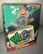 1991 Topps Wacky Packages Collectible Sticker Cards Box 48 Packs Sealed Rare Wow