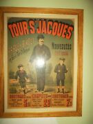 Tours Jacques French Advertising Poster - Original 28 X 36 Inches Framed