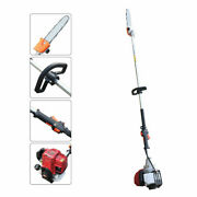 37cc 4 Stroke Gas Pole Chain Saw Gasoline 140f Tree Trimming Pruning Air-cooled