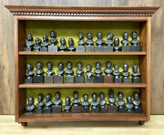 Presidential Bronzes 1977 Franklin Mint Complete Set Of 38 Solid Bronze Busts