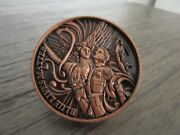 Nypd St Michael Defend Us In Battle Blue Lives Matter Challenge Coin 489b.