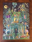Complete Halloween The House On Haunted Hill Puzzle 1973 Springbok Vintagew Box