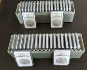 2006 Silver American Eagle Set Of 40 Box 1 - 40 Ngc Graded Ms-69 - 40 Coins
