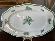 Vintage Rosenthal Germany Green Bloom Chippendale Style Oval Platter 13