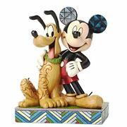 Disney Tradition Jim Shore Mickey Mouse And Pluto Disney Figure 6inch From Japan