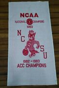 Nc State 1983 National Championship Commemorative Towel Cannon Mills Usa Made