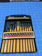 Bostitch Stanley 12pc Punch And Chisel Set 3/8 To 5/8 Chisel 1/16 To 3/8 Punch