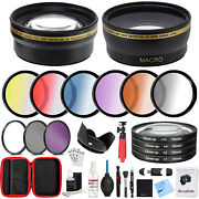 58mm Lens Accessory Kit - Includes Filter Sets, Case And Cleaning Kit By Deco Gear