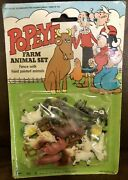 Popeye Farm Animal Set Fence With Hand Painted Animals Vintage 7076-3 Hong Kong