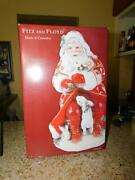Fitz And Floyd Town And Country Santa With Rabbits Cookie Jar Mint In Box