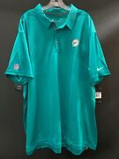 Miami Dolphins New Team Issued Teal Dri-fit Nike Coaches Sideline Shirt Sz-3xl