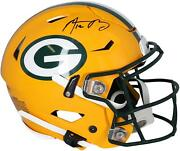 Aaron Rodgers Green Bay Packers Autographed Riddell Speed Flex Authentic Helmet
