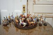Franklin Mint Treasury Of Carousel Art 1988 Set Of 20 Horses And Animals W Base