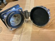 Marinco 30amp Power Inlet Mar303sselb Stainless Steel 125v Used / Good Condition