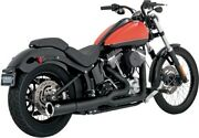 Vance Andamp Hines Black Pro-pipe 2-1 2 Into 1 Exhaust Harley 2012-2016 Softail