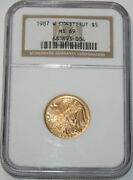 1987-w Commemorative Constitution Ngc Ms69 Nearly Perfect 1/4 Ounce Gold Coin