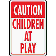 Hy-ko Heavy-duty Aluminum Sign, Caution Children At Play 6-pack Hw-7