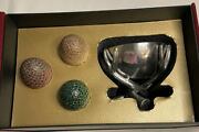 Rare Game Of Thrones Dragon Eggs With Stage Metal Goblet Set