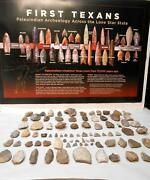Central Texas Paleo Period Arrowheads And Tools With Free Paleo Archeology Poster