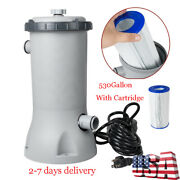 Bestway Electric Swim Pool Cartridge Filter Pump For Above Ground Pools Cleaning