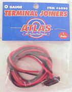Atlas 6090 O Gauge Terminal Joiners With Wire 10 Packs Of 2