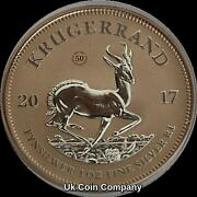 2017 South Africa Krugerrand Premium 1 Oz Silver Rose Gold Coin