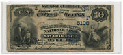 1908 10 Banknote Date Back The Wells Fargo Nevada Nb Of San Francisco Ca 5105