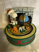Vintage Peanuts Snoopy And Woodstock Train Willitts Music Box Video Of It Working