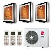 Lg Art Cool Gallery Wall Mounted 3-zone System - 24000 Btu Outdoor - 9k + 9k...