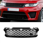Grille Front Upper Glossy Black Fit For Land Rover Range Rover Sport 2014-2017