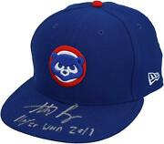Autographed Anthony Rizzo Cubs Game Used Hat Fanatics Authentic Coa