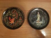 2 Bradford Exchange Russian Fairy Tales Russian Collector's Plates 1989 1990