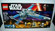 Lego Star Wars Resistance X-wing Fighter 75149 F1 Building Blocks Kit Toy Rare