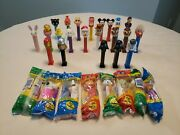 Lot Of 30 Pez Candy Dispensers Marvel, Christmas, Disney, Star Wars, Easter