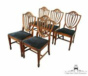 Set Of 5 Drexel Heritage Duncan Phyfe Style Traditional Shield Back Dining Si...